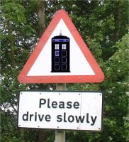 Another TARDIS road sign by Carthoris