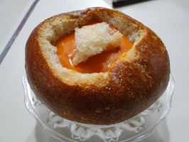 Seafood Bisque Bread Bowl by luzzy