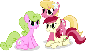 Flower Sisters by Vector-Brony