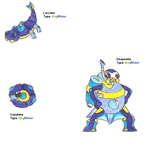 Larvater, Casubble and Deepeetle by WesleyFKMN
