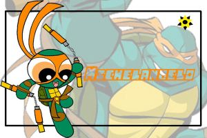 TMNT the PPG style-Mikey by Porn1315
