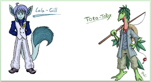 PKMC: -Collab- Lala-Gill and Toto-Toby! by Bulbiekins