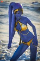 Rio Ca'tal (Twi'lek on the Beach) by amberbrite