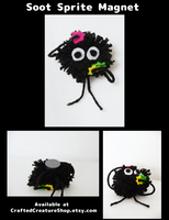 Soot Sprite Magnets by CraftedCreatures