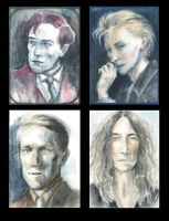 Four portraits by Howleglass