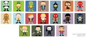 daily characters - march 2011 by striffle