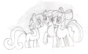 The Cutie Mark Crusaders Sketch by JustDoItMarshall