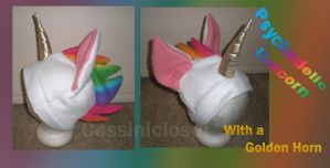 Psychedelic Unicorn Hat by CassiniCloset