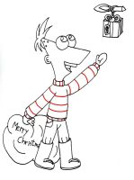 FREE SKETCHES 2 - Phineas Christmas by Conyy-disney15