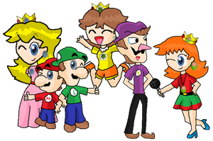 Mario and friends as teenagers by Rotommowtom