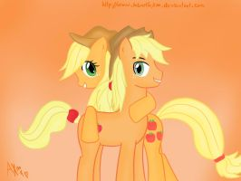 AppleJack and AJ by AntonellaX100