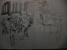 Sketching In Manhattan by Lostro