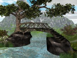 Fantasy Bridge Background by Nightbyrd