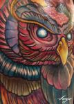 Zombie Owl Detail Shot by IamValo
