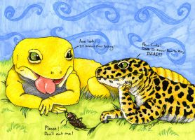 Leopard Gecko Commission by Khimera