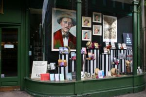 James Joyce Bloomsday Window at Hodges Figgis by stevie-devlin