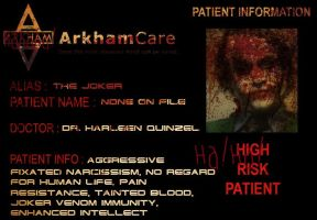 Arkham inmate The Joker by tr4br