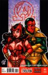 Scarlet Witch + Vision sketch cover by gb2k