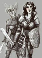 Ella and Mhairi by LostAcanthus