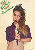 Drink Mirinda Pin Up by Chuchy5