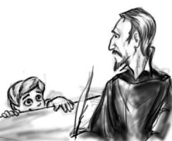 Vimes Jr. meets the Patrician by infiniteviking