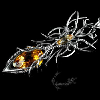 YGZHNIS - silver and citrine. by LUNARIEEN