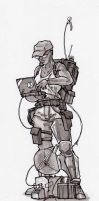 Postapocalyptic Hacker by deathbstrd