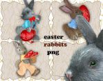 Easter Rabbits by roula33