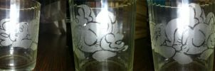 Pinkie Pie glass engrave by angel99percent