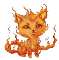 Fire kitten by FIavie