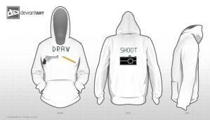 Draw and Shoot Hoodie by Comedic44