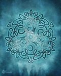 Celtic Dolphins Knotwork by brigidashwood