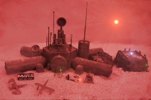 Dust Storm at Mars Base Alpha One by skphile