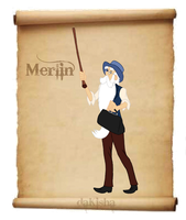 Western Disney - Merlin by daKisha