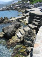 Sea rock steps by Sassy-Stock