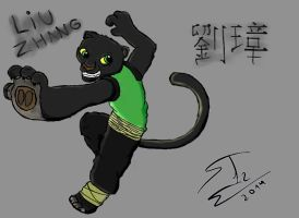 KFP Liu Zhang  14 years old Black Panther by SnakeTeeth12