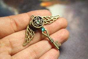 Celtic Inspired Key Pendant by Nabila1790