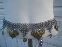 Chainmaile Belly Dance Belt with scalem by AngelWolf22