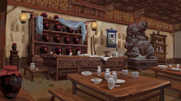 Chinese bar by samuraise