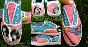 Aerosmith Hand-Painted Sneakers by BlueIrisArt