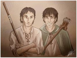 WoT: Tam and Abell by Kitsune-gari