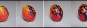 -Autumns Shadows-  Hollow Painted Egg  SOLD by TaxiderMegsan