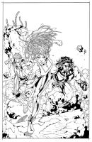 Hypernaturals #1 cover inks by JosephLSilver