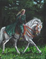 glorfindel on asfaloth by paula2206