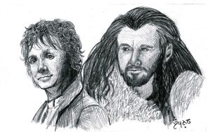 Bilbo and Thorin by Fetting