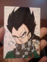 ACEO Vegeta and baby Trunks by kawaiidchan