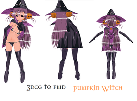 MMD- Pumpkin Witch Set-DOWNLAD by MMDFakewings18