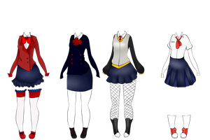 Female Uniform Examples by SteampunkedInkling