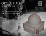 Albert Speer's Volkshalle Paper Model Kit by RocketmanTan