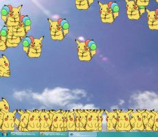 Pika-evasion on my PC by Hiime-chan